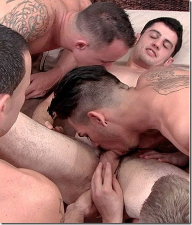five hot straight guys going at each other