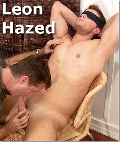 leon blindfolded